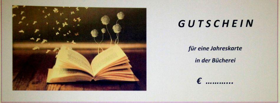 <div class=slidertitel>Gutschein</div><div class=slidertext>Geschenkgutscheine für eine Jahreskarte sind ein ideales Geschenk für Bücherfreunde und können in der Bibliothek um 12€ bzw. 18€ erworben werden</div>