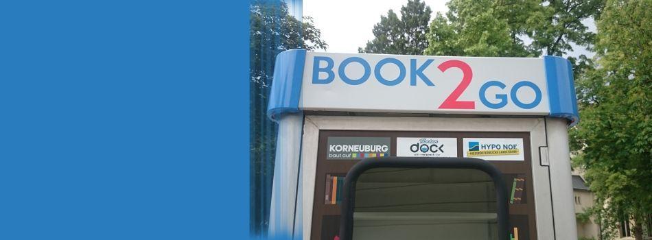 <div class=slidertitel>BOOK 2 GO</div><div class=slidertext>mitnehmen, lesen, tauschen<br/>an 3 Standorten in Korneuburg<br/>Projekt des Lebensbereichs Bildung</div>