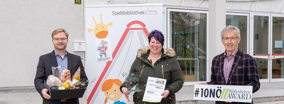 <div class=slidertitel>Sabine holte NÖ Bibliotheken Award nach Mistelbach!</div><div class=slidertext></div>