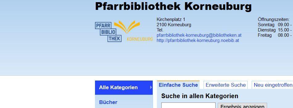 <div class=slidertitel>Online stöbern und reservieren!</div><div class=slidertext>im Online-Katalog der Pfarrbibliothek</div>