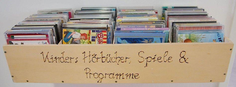 <div class=slidertitel>Hörbücher Kinder</div><div class=slidertext>Große Auswahl an Hörbüchern, DVD´S, Liedern,<br/><br/>Foto Markus Kreiner</div>